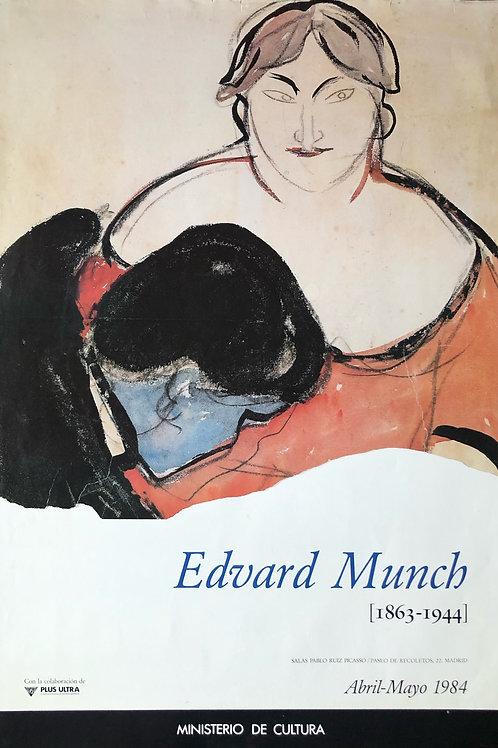 """Cartel original de la exposición """"Edward Munch"""""""