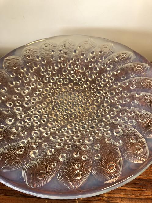 Centro de mesa francés de cristal estilo Sabino