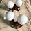 Thumbnail: Pareja de apliques/lámparas de madera con globos opalinos