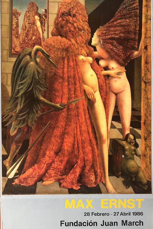 """Cartel original de la exposición """"Max Ernst"""" (soporte incluido)"""