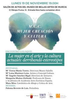 """ENCUENTRO-COLOQUIO """"La mujer en el arte y la cultura actuales: derribando estereotipos."""""""