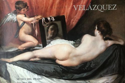 """Cartel original """"de la exposición """"Velázquez"""""""