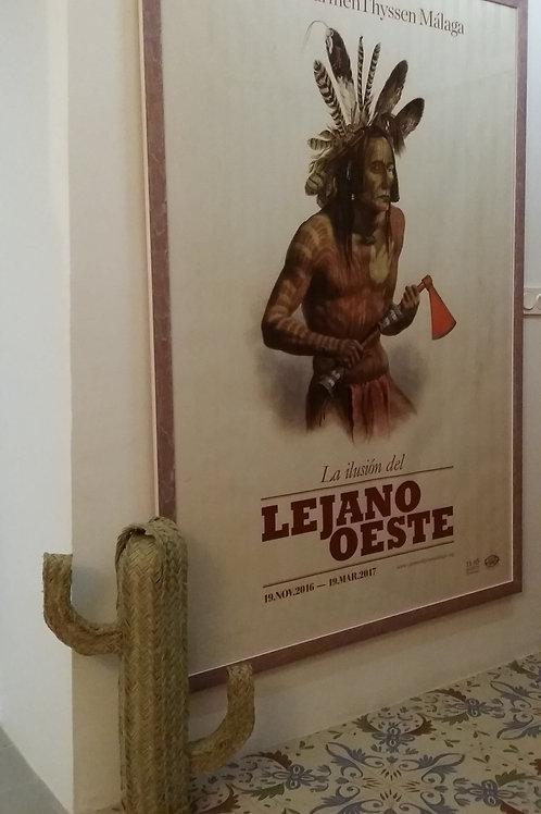 """Cartel original de la exposición """"La ilusión del Lejano Oeste"""""""