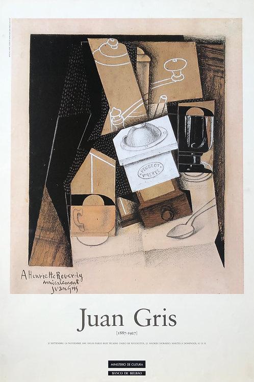 """Cartel original de la exposición """"Juan Gris"""""""