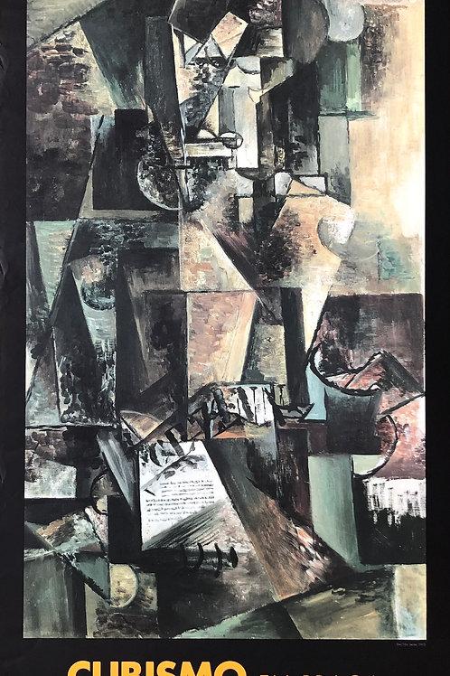 """Cartel original de la exposición """"Cubismo en Praga"""""""