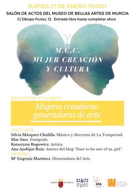 """ENCUENTRO-COLOQUIO """"Mujeres creadoras: generadoras de arte""""."""