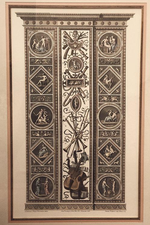 Reproducción grabados 'Loggia de Rafael' en el Vaticano