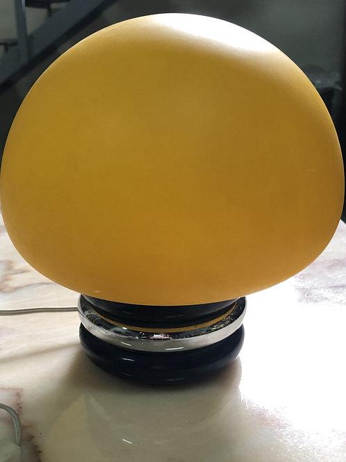 Lámpara de cristal opalino tintado años 70