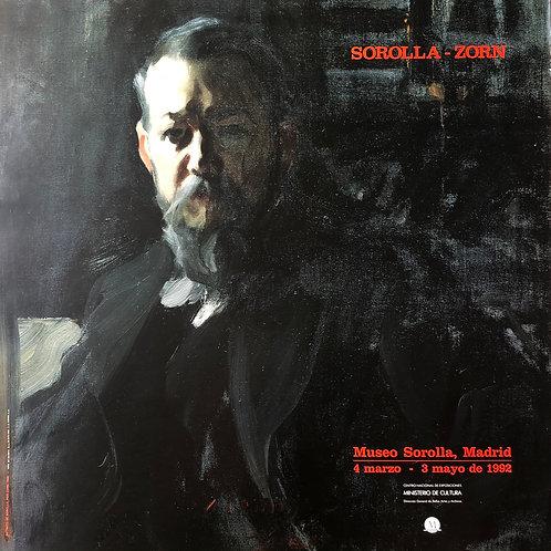 """Cartel original de la exposición """"Sorolla - Zorn"""" (soporte incluido)"""