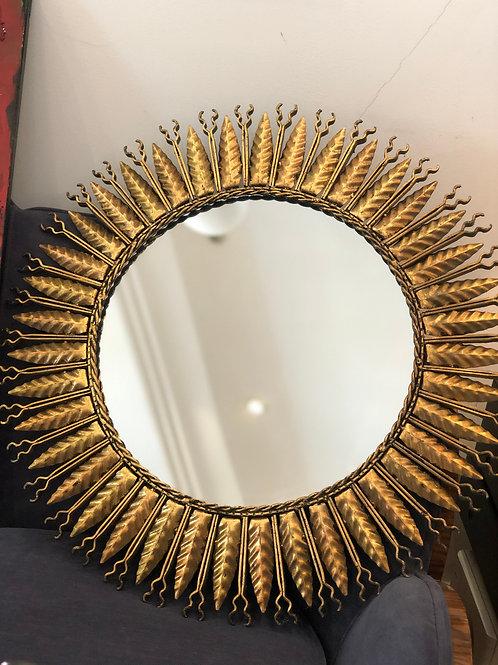 Sol de espejo vintage de hierro