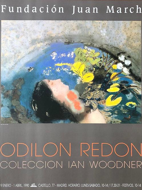 """Cartel original de la exposición """"Odilon Redon"""" (soporte incluido)"""