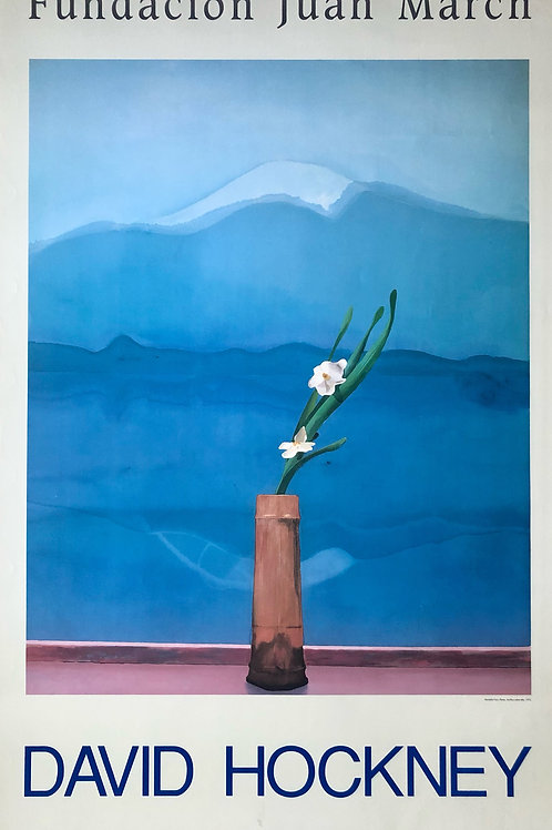 """Cartel original de la exposición """"David Hockney"""" (soporte incluido)"""
