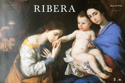 """Cartel original de la exposición """"Ribera"""""""
