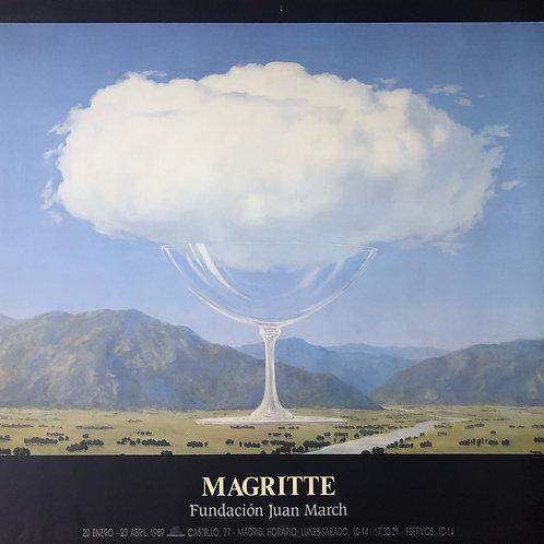 """Cartel original de la exposición """"René Magritte"""""""