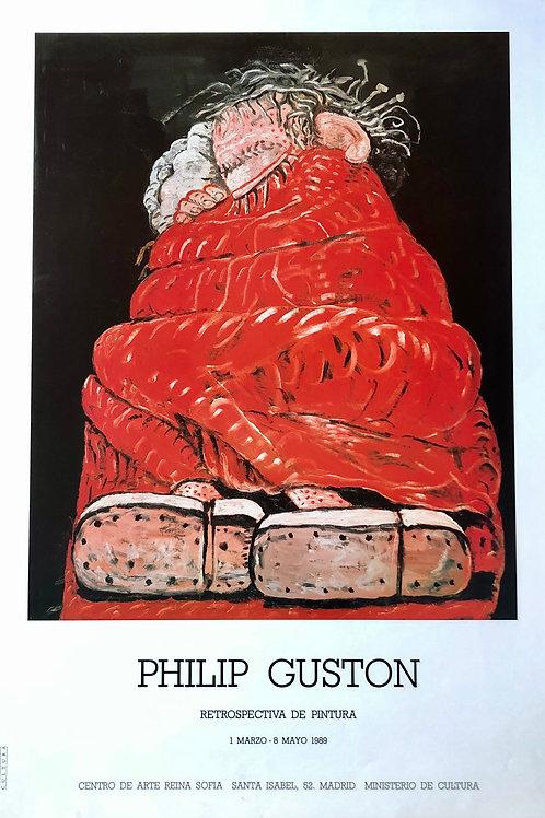 """Cartel original de la exposición """"Phillip Guston"""""""