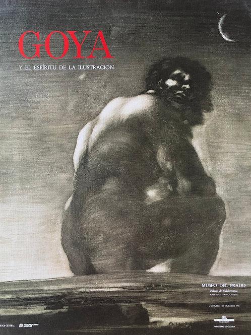 """Cartel original de la exposición """"Goya y el espíritu de la Ilustración""""+ soporte"""