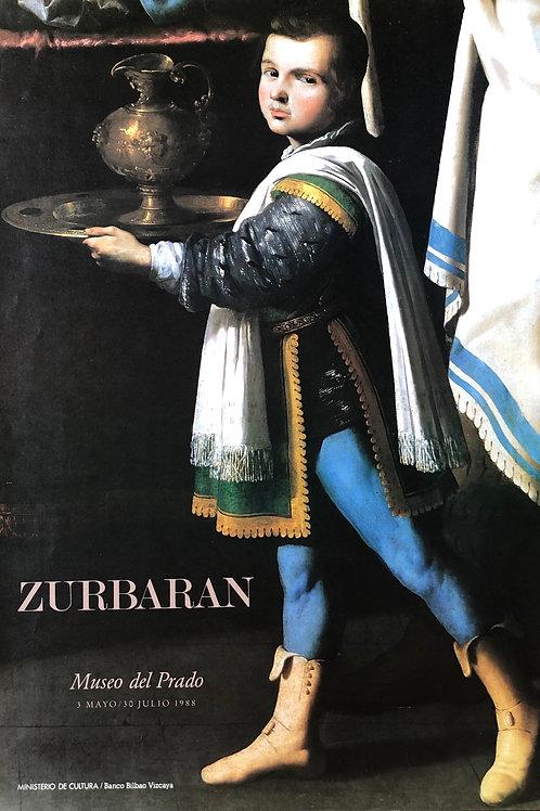 """Cartel original de la exposición """"Zurbarán"""" (soporte incluido)"""