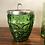 Thumbnail: Juego francés de vasos y cubitera cristal años 70