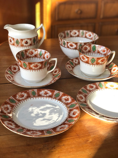 """Juego de té inglés años 50 Casa """"Richmond"""""""