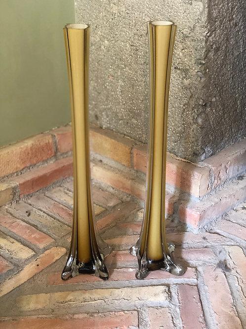 Pareja jarrones violeteros italianos de diseño años 70