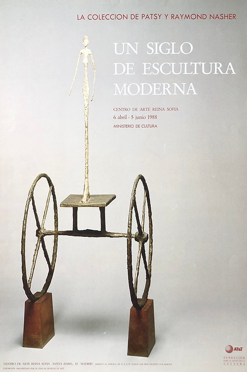 """Cartel original de la exposición """"Un siglo de escultura moderna"""""""
