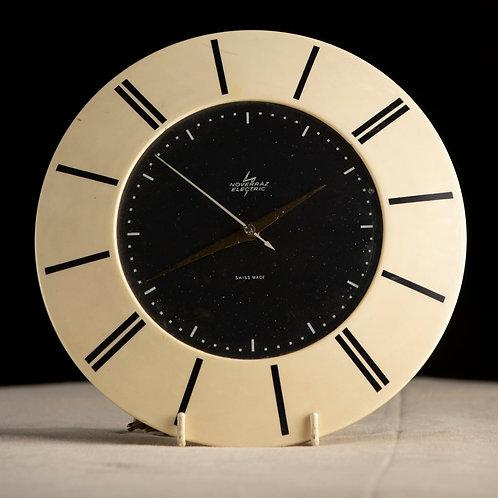 Reloj eléctrico suizo vintage de pared