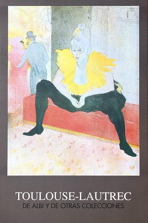 """Cartel original de la exposición """"Toulouse Lautrect"""" (soporte incluido)"""