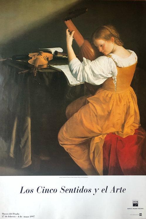 """Cartel original de la exposición """"Los cinco sentidos y el arte"""""""
