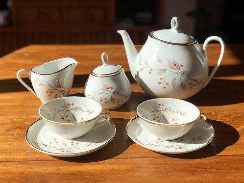 "Juego de té o café de porcelana francesa "" Limoges"""