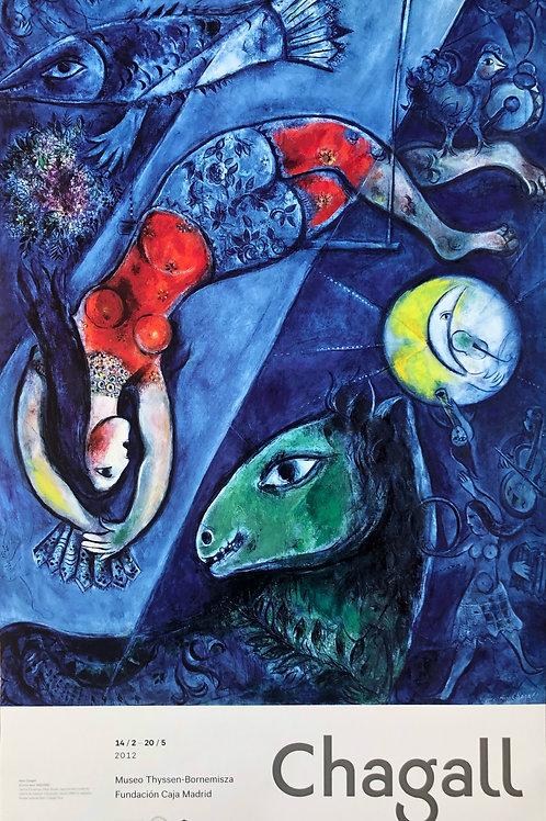 """Cartel original de la exposición """"Chagall"""" (soporte incluido)"""