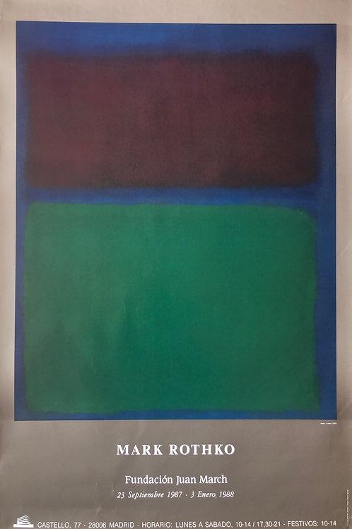 """Cartel original de la exposición """"Rothko"""" (soporte incluido)"""