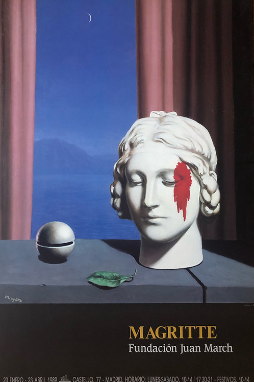 """Cartel original de la exposición """"René Magritte"""" (soporte incluido)"""