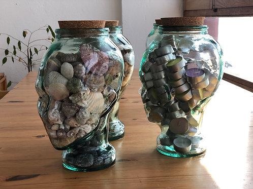 Recipiente decorativo de cristal