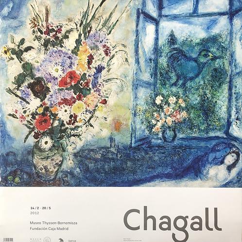 """Cartel original de la exposición """"Chagall""""(soporte incluido)"""