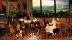 Brueghel the sense of Hearing 1618_edite