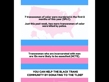 Pride Month - Black Trans Lives Matter