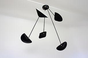 suspension design mobile en acier métal noir cinq branches tendance 2020