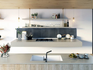 Industrial chic meets concrete eclectic in kitchen benchtops