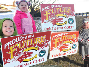 Colchester North welcomes incoming kindergarteners with special signage