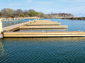Construction on Dock B at the Colchester Harbour complete