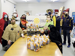 "Cottam Rotary hosts ""Fly by Halloween"" contactless candy event for kids"