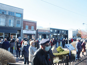 Veterans gather for Remembrance Day in Harrow