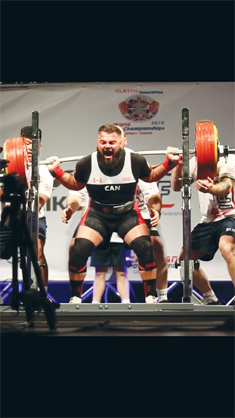 Photo submitted: Local powerhouse, Luke Tremblay, lifts 689 pounds in the squat event at the IPF World Powerlifting Championships.