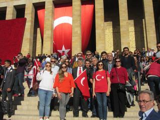 29 Ekim'de Anıtkabirdeydik
