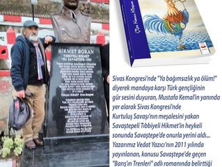 Tıbbıyeli Hikmet anıtı Savaştepe'ye Dikildi