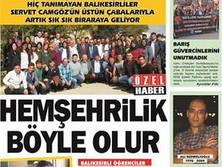 Öğrenci Kahvaltısı Balıkesir Politika gazetesinde