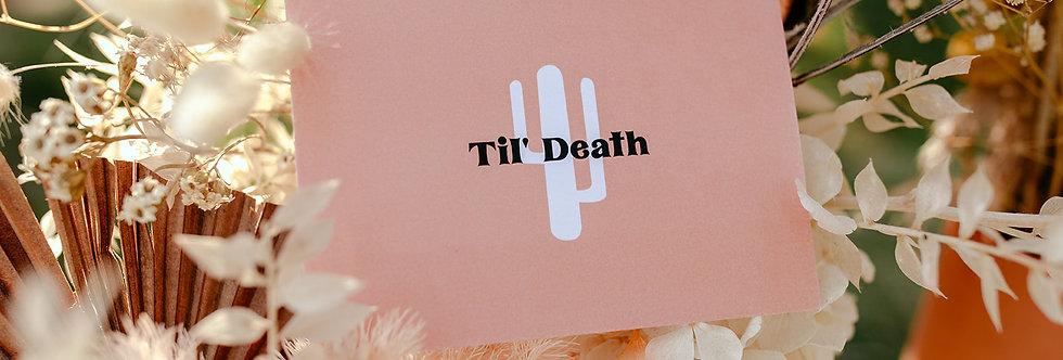 Til' Death Vow Cards x 2