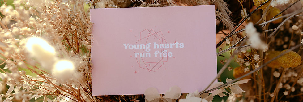 Young Hearts Vow Card x 2