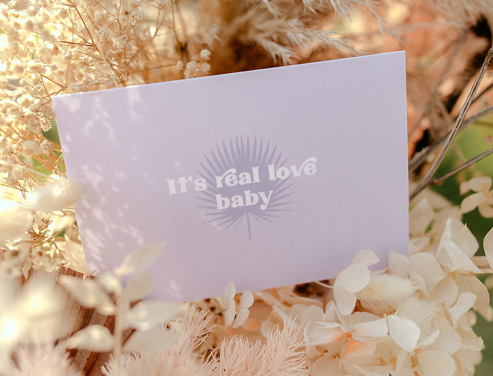 Real Love Baby Vow Card x 2