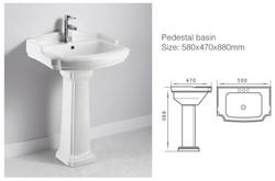 Calais Corner Pedestal Sink
